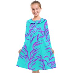 Branches Leaves Colors Summer Kids  Midi Sailor Dress