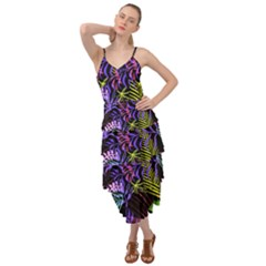 Leaves Nature Design Plant Layered Bottom Dress