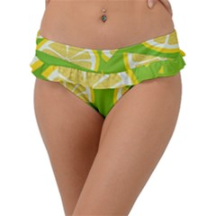 Lemon Fruit Healthy Fruits Food Frill Bikini Bottom by Nexatart