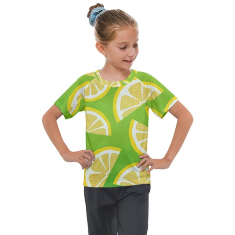 Lemon Fruit Healthy Fruits Food Kids  Mesh Piece Tee by Nexatart