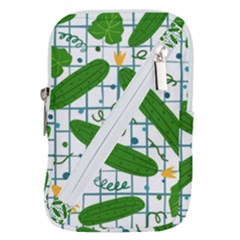 Seamless Pattern With Cucumber Belt Pouch Bag (large) by Nexatart