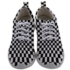 Illusion Checkerboard Black And White Pattern Mens Athletic Shoes