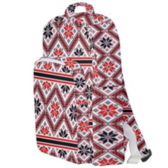 Folklore Ethnic Pattern Background Double Compartment Backpack