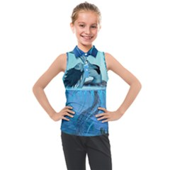 Wonderful Jellyfish Women Kids  Sleeveless Polo Tee