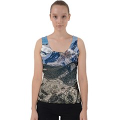 El Chalten Landcape Andes Patagonian Mountains, Agentina Velvet Tank Top by dflcprintsclothing