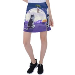 Cat Kitty Mouse Mice Escape Trick Tennis Skirt by Bejoart