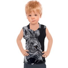 Angry Male Lion Kids  Sport Tank Top