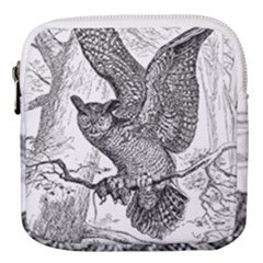 Owl Animals Wild Jungle Nature Mini Square Pouch