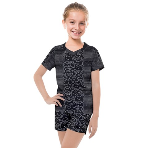 Furr Division Kids  Mesh Tee And Shorts Set by Bejoart