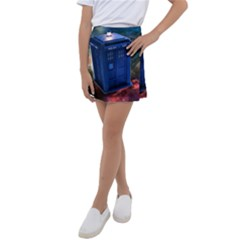 The Police Box Tardis Time Travel Device Used Doctor Who Kids  Tennis Skirt