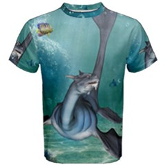 Awesome Seadragon Men s Cotton Tee by FantasyWorld7