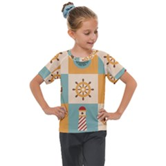 Nautical Elements Collection Kids  Mesh Piece Tee