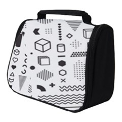 Pattern Hipster Abstract Form Geometric Line Variety Shapes Polkadots Fashion Style Seamless Full Print Travel Pouch (small)