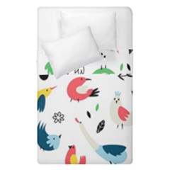 Vector Set Isolates With Cute Birds Scandinavian Style Duvet Cover Double Side (single Size)