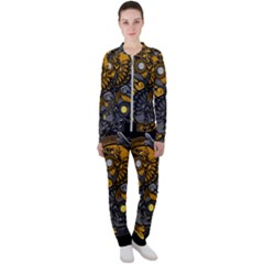Yin Yang Owl Doodle Ornament Illustration Casual Jacket And Pants Set by Vaneshart