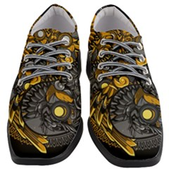 Yin Yang Owl Doodle Ornament Illustration Women Heeled Oxford Shoes