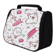 Cute Animals Seamless Pattern Kawaii Doodle Style Full Print Travel Pouch (small)