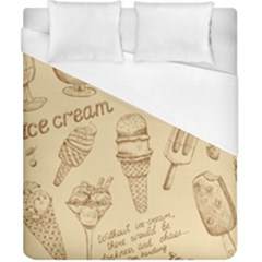 Ice Cream Vintage Pattern Duvet Cover (california King Size)