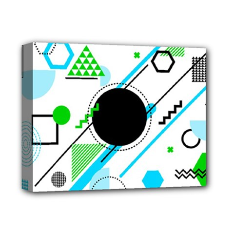 Geometric Shapes Background Deluxe Canvas 14  X 11  (stretched)
