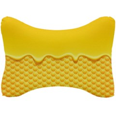Sweet Honey Drips With Honeycomb Seat Head Rest Cushion