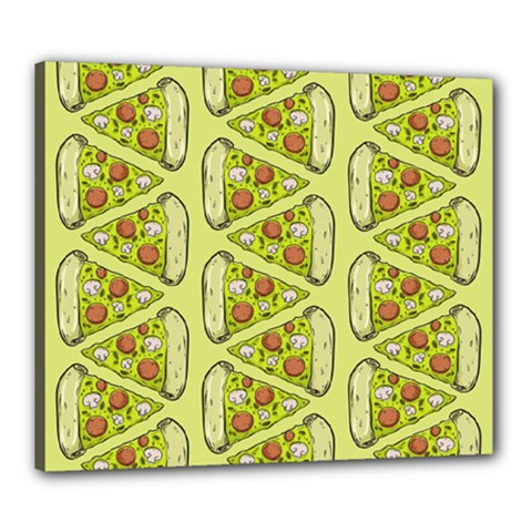 Pizza Fast Food Pattern Seamles Design Background Canvas 24  X 20  (stretched)