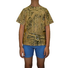 Pcb Printed Circuit Board Kids  Short Sleeve Swimwear by Vaneshart