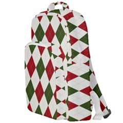 Christmas Argyle Pattern Double Compartment Backpack by Sobalvarro