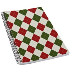 Christmas Argyle Pattern 5 5  X 8 5  Notebook by Sobalvarro