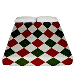 Christmas Argyle Pattern Fitted Sheet (california King Size) by Sobalvarro