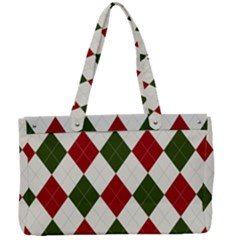 Christmas Argyle Pattern Canvas Work Bag by Sobalvarro