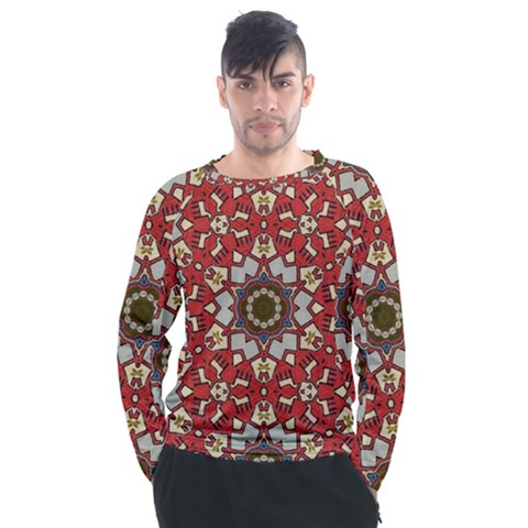 Seamless Carpet Pattern 1425828344vll Men s Long Sleeve Raglan Tee by Sobalvarro