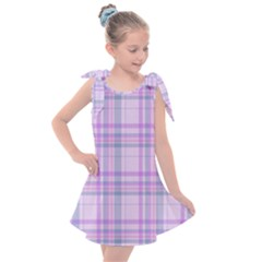 Kariert Muster Stoff Vintage 15805047008f3 Kids  Tie Up Tunic Dress by Sobalvarro