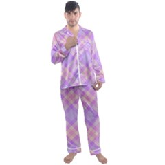 Kariert Muster Stoff Vintage 1580504533x2u Men s Satin Pajamas Long Pants Set by Sobalvarro