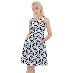 Geometric Pattern 71 Publicdomainvectors Org (1) Knee Length Skater Dress With Pockets