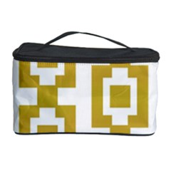 Gold Square Pattern  Arvin61r58 Cosmetic Storage by Sobalvarro