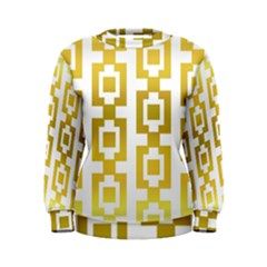 Gold Square Pattern  Arvin61r58 Women s Sweatshirt by Sobalvarro