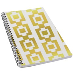 Gold Square Pattern  Arvin61r58 5 5  X 8 5  Notebook by Sobalvarro