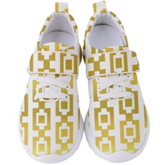 Gold Square Pattern  Arvin61r58 Women s Velcro Strap Shoes by Sobalvarro
