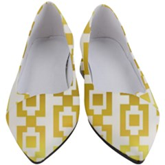 Gold Square Pattern  Arvin61r58 Women s Block Heels  by Sobalvarro