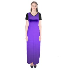 Blu Elettrico Short Sleeve Maxi Dress