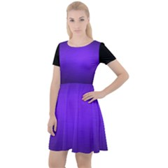 Blu Elettrico Cap Sleeve Velour Dress