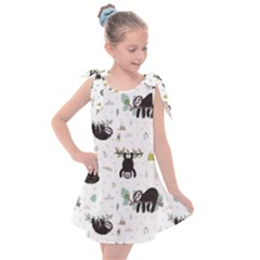 Cute Sloths Kids  Tie Up Tunic Dress by Sobalvarro