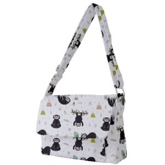 Cute Sloths Full Print Messenger Bag (l) by Sobalvarro