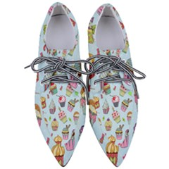 Cupcake Doodle Pattern Women s Pointed Oxford Shoes by Sobalvarro