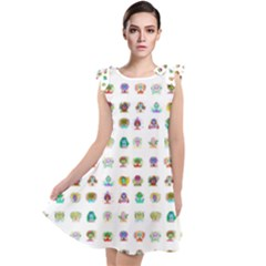 All The Aliens Teeny Tie Up Tunic Dress