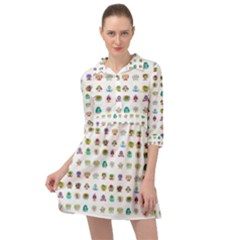 All The Aliens Teeny Mini Skater Shirt Dress by ArtByAng
