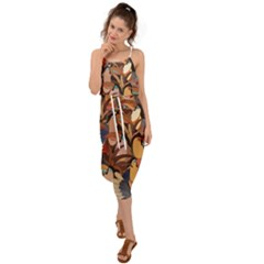 Tukans Waist Tie Cover Up Chiffon Dress