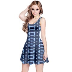 Digital Boxes Reversible Sleeveless Dress