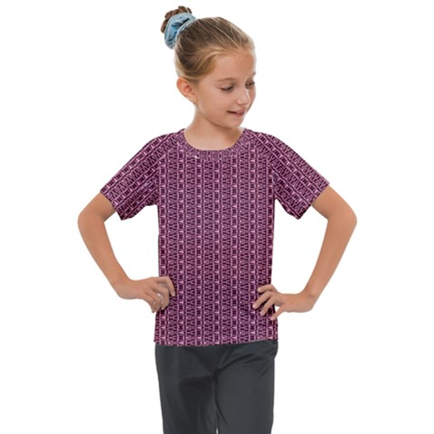 Digital Waves Kids  Mesh Piece Tee by Sparkle