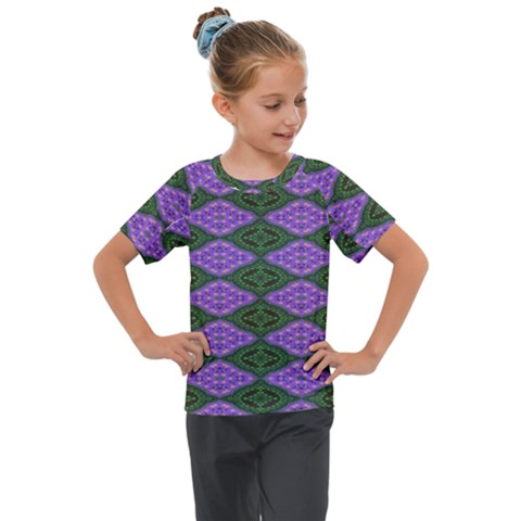 Digital Grapes Kids  Mesh Piece Tee by Sparkle